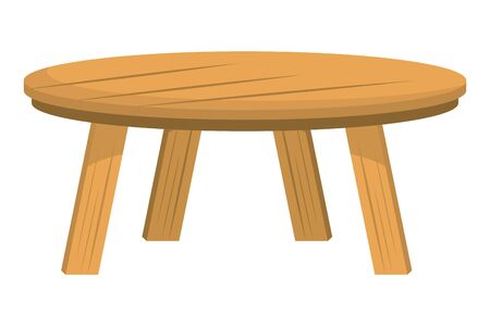 Isolated wood table design vector illustration