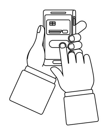 Smartphone icon design vector illustration Illusztráció