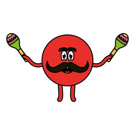 mexican emoji with maracas character