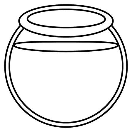 aquarium bowl glass icon Vetores
