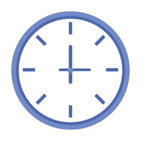 Isolated clock design vector illustration