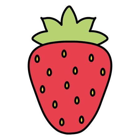 fresh strawberry fruit summer icon Иллюстрация