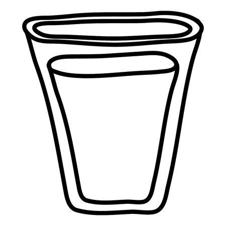 water glass beverage isolated icon