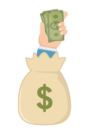 Isolated money bag design vector illustration