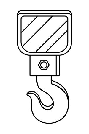 crane hook icon in black and white