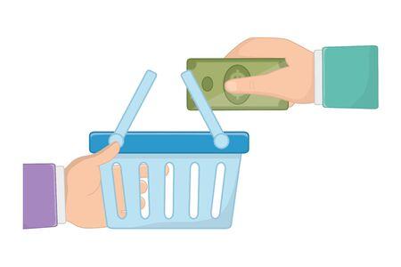 Isolierte Geld-Design-Vektor-Illustration