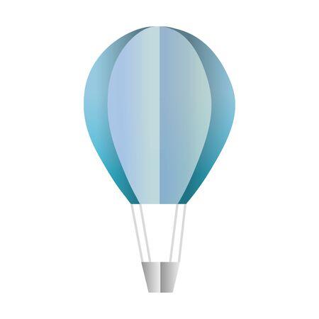 air balloon transport fly style vector illustration Illusztráció