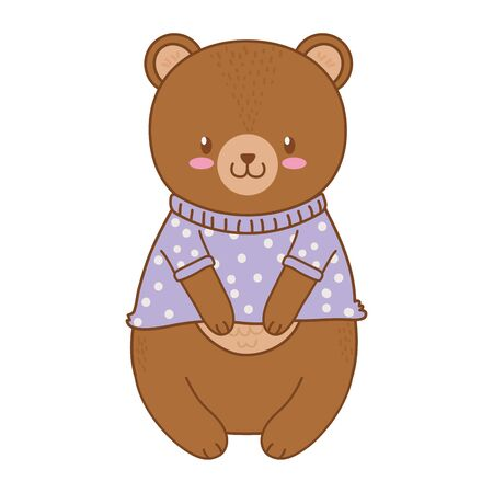 cute bear woodland character vector illustration design Foto de archivo - 129797781