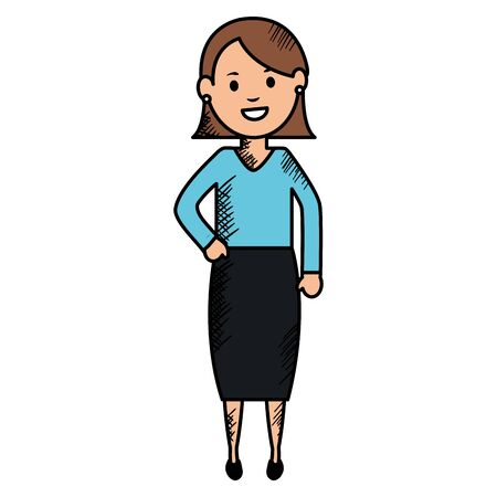 young woman avatar character vector illustration design Stock Illustratie