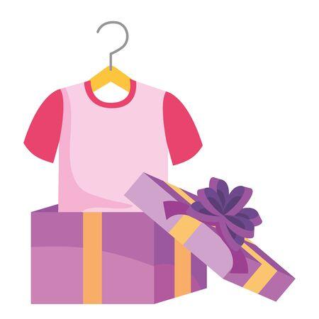 Gift and tshirt design vector illustration