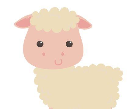 Isolated sheep cartoon vector design