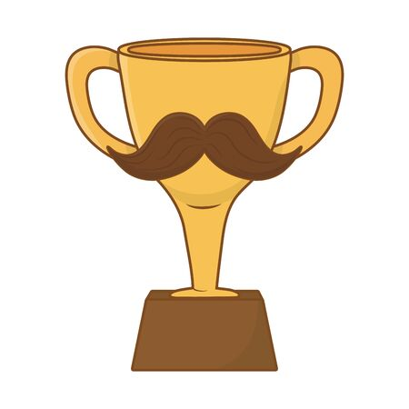 trophy with moustache