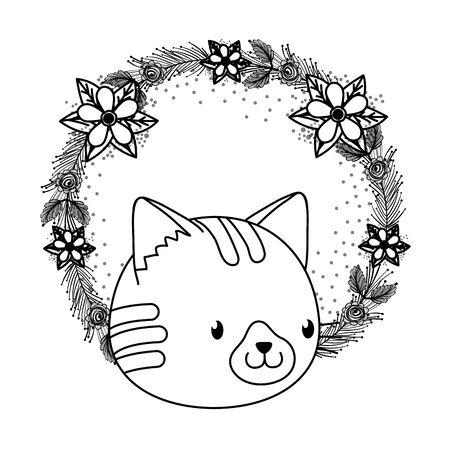 cute pet animal cartoon Illusztráció