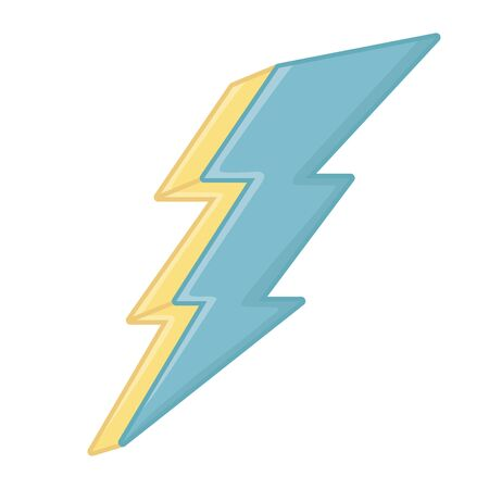 Isolated thunder icon design vector illustration  イラスト・ベクター素材