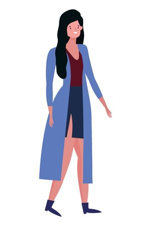 Avatar of a fashion woman design, Girl female person human and beauty theme Vector illustration