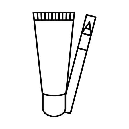 eyebrow pencil make up drawing icon vector illustration design  イラスト・ベクター素材