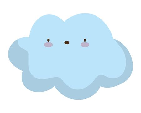 Isolated cloud cartoon vector design