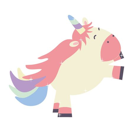 cute adorable unicorn fairy character Иллюстрация