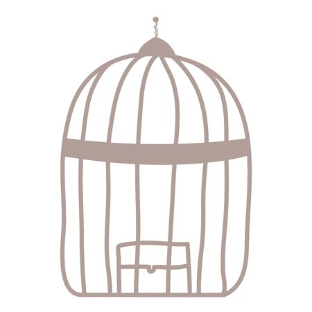 cage bird jail isolated icon