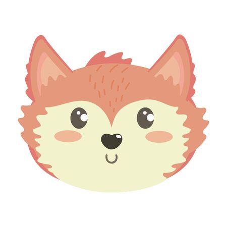 Isolated fox cartoon design vector illustration