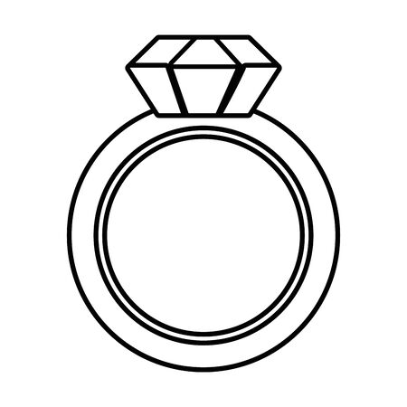 Isolated ring design vector illustration