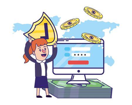 Businesswoman banking financial planning Standard-Bild - 129795710