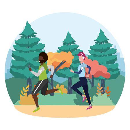 fitness sport train cartoon Illusztráció
