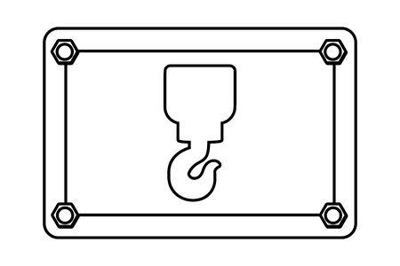 construction architectural hook sign cartoon vector illustration graphic design Standard-Bild - 129805595