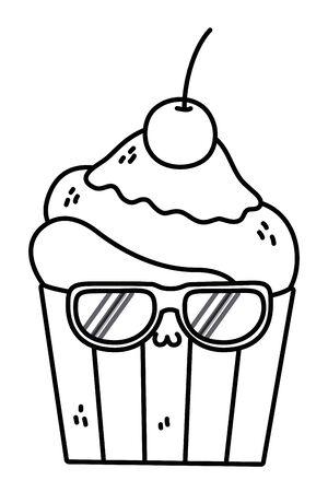 muffin cartoon design