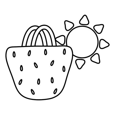 handbag female with sun summer 写真素材 - 129817188
