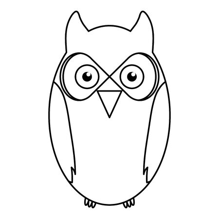 cute owl bird woodland character