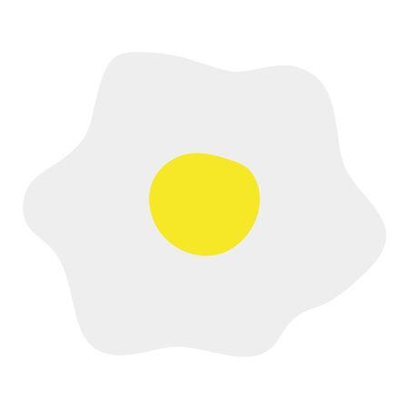 egg fried healthy food icon Çizim