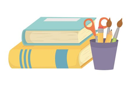 Books and school supplies design