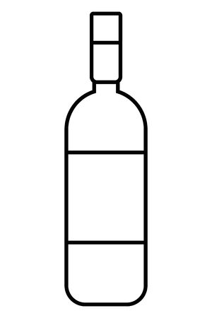 Isolated wine bottle design vector illustration