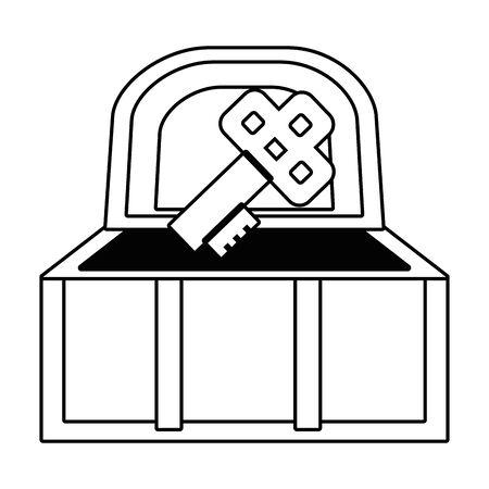 Isolated treasure chest design vector illustration Illusztráció