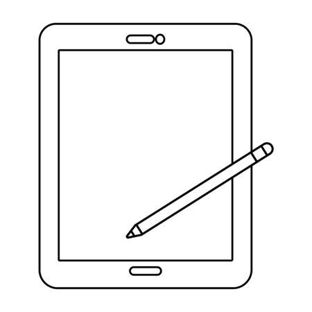 technology tablet cartoon vector illustration graphic design