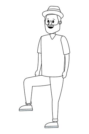 young man body cartoon vector illustration graphic design Foto de archivo - 129813236