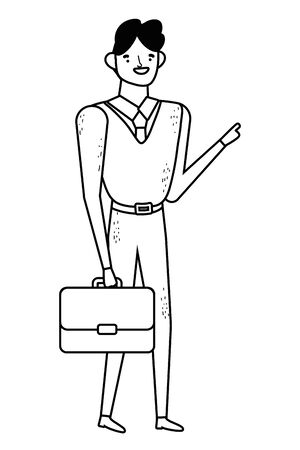 Businessman with suitcase design, Man business management corporate job occupation and worker theme Vector illustration Illusztráció