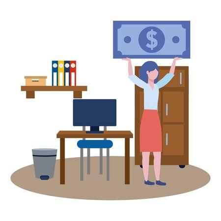 Businesswoman avatar cartoon design vector illustrator