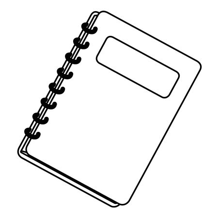 Isolated notebook design vector illustrator