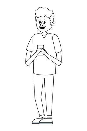 young man cartoon Foto de archivo - 129817480