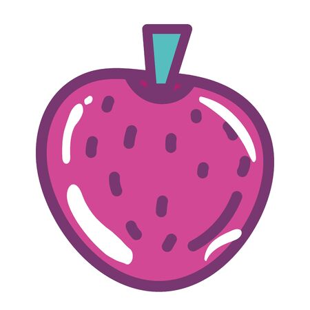 Isolated strawberry fruit vector design
