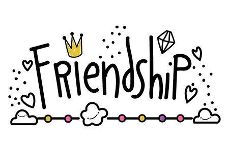 Isolated friendship word vector design Illustration