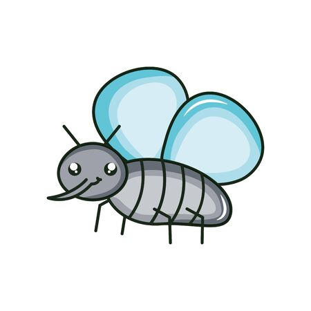 cute fly insect character