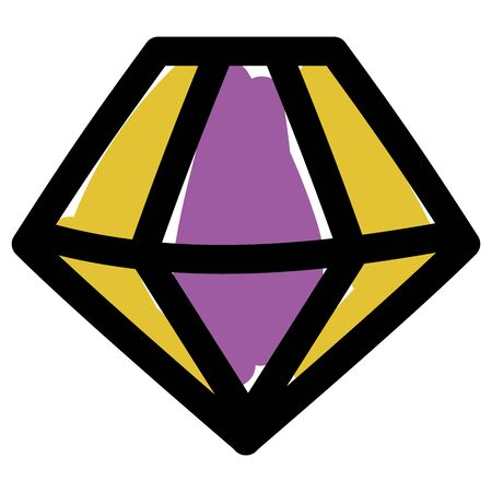 Isolated diamond gem icon design