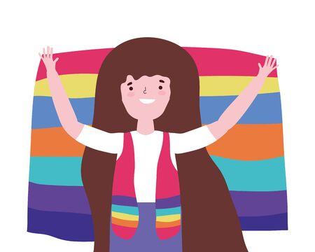 Woman supporting lgtbi march design vector illustration Ilustracja