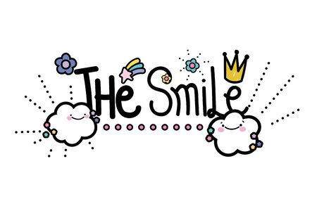 Isolated smile word vector design