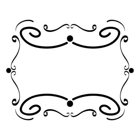 frame edges with lines boho style vector illustration design  イラスト・ベクター素材
