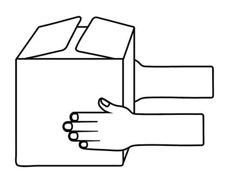 Box design, Delivery shipping logistics transportation distribution and merchandise theme Vector illustration Illustration