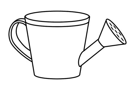 watering can cartoon 向量圖像
